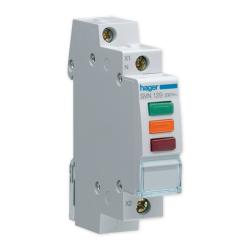 HAGER Lampka sygnalizacyjna LED trójkolorowa 3F 230V SVN129