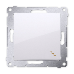 SIMON 54 Wyłącznik łącznik pojedynczy schodowy do ramki biały DW6.01/11