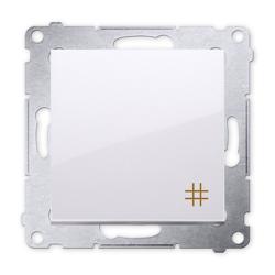 SIMON 54 Wyłącznik łącznik pojedynczy krzyżowy do ramki biały DW7.01/11