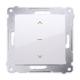 SIMON 54 Wyłącznik łącznik żaluzjowy trójpozycyjny 1-0-2 do ramki biały DZW1K.01/11
