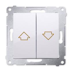SIMON 54 Wyłącznik łącznik żaluzjowy zwierny do ramki biały DZP1.01/11