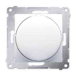 SIMON 54 Ściemniacz do LED naciskowo-obrotowy do ramki biały DS9L.01/11