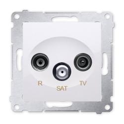 SIMON 54 Gniazdo antenowe RTV-SAT do ramki białe DASK.01/11