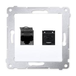 SIMON 54 Gniazdo komputerowe podwójne RJ45 do ramki białe D62.01/11