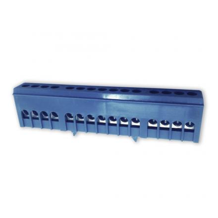 Elektro Mostek zerowy listwa zaciskowa złączka obudowana 15P na szynę niebieski