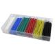 Elektro Zestaw rurek koszulki termokurczliwe 6 rozmiarów różne kolory 100szt.