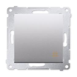 SIMON 54 Wyłącznik łącznik pojedynczy krzyżowy do ramki srebrny mat DW7.01/43