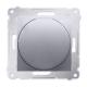 SIMON 54 Ściemniacz do LED naciskowo-obrotowy do ramki srebrny mat DS9L.01/43