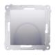 SIMON 54 Wyjście wpust kablowy do ramki srebrny mat DPK1.01/43