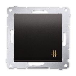 SIMON 54 Wyłącznik łącznik pojedynczy krzyżowy do ramki antracyt DW7.01/48