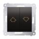 SIMON 54 Wyłącznik łącznik żaluzjowy zwierny do ramki antracyt DZP1.01/48