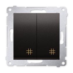 SIMON 54 Wyłącznik łącznik podwójny krzyżowy do ramki antracyt DW7/2.01/48