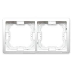 SIMON BASIC Ramka podwójna biały BMR2/11