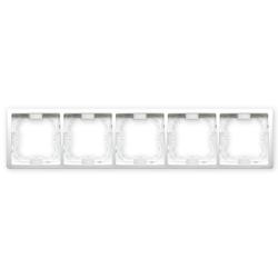 SIMON BASIC Ramka pięciokrotna biała BMR5/11
