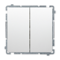 SIMON BASIC Wyłącznik łącznik podwójny świecznikowy do ramki biały BMW5.01/11