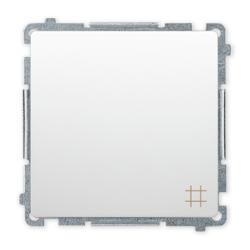 SIMON BASIC Wyłącznik łącznik pojedynczy krzyżowy do ramki biały BMW7.01/11