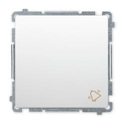 """SIMON BASIC Wyłącznik łącznik zwierny """"dzwonek"""" do ramki biały BMD1.01/11"""