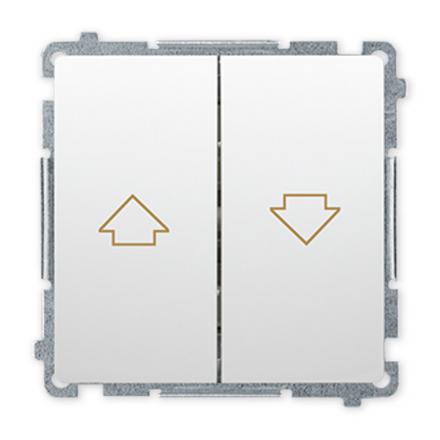 SIMON BASIC Wyłącznik łącznik żaluzjowy zwierny do ramki biały BMZ1.01/11