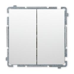 SIMON BASIC Wyłącznik łącznik podwójny schodowy do ramki biały BMW6/2.01/11