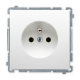 SIMON BASIC Gniazdo pojedyncze z uziemieniem do ramki białe BMGZ1.01/11