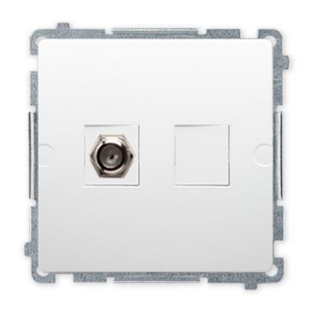 SIMON BASIC Gniazdo antenowe typ F do ramki białe BMAF1.01/11