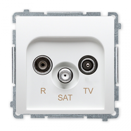 SIMON BASIC Gniazdo antenowe RTV-SAT do ramki białe BMZAR-SAT1.3/1.01/11