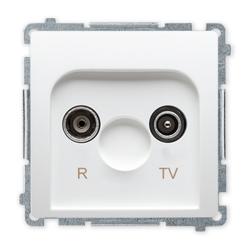SIMON BASIC Gniazdo antenowe RTV do ramki białe BMZAR1/1.01/11