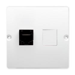 SIMON BASIC Gniazdo komputerowe RJ45 do ramki białe BMF51.02/11