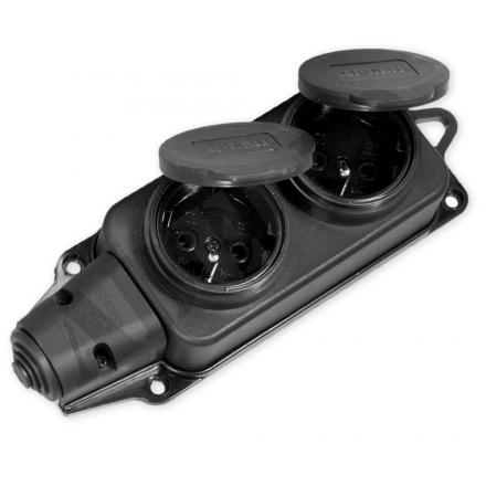 TED Gniazdo podwójne listwa rozdzielcza hermetyczna IP44 16A 250V
