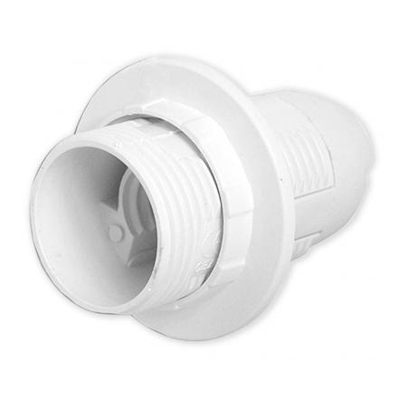 LAMEX Oprawa plastikowa E27 z kołnierzem biała