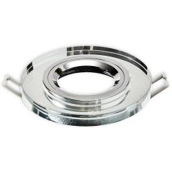 Oprawa oprawka szklana halogenowa okrągła stała szklana clear