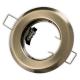 Oprawa oprawka halogenowa okrągła stała stare złoto patyna