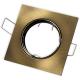 Oprawa oprawka halogenowa kwadrat ruchoma stare złoto patyna
