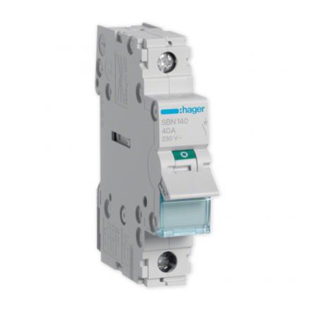 HAGER Rozłącznik izolacyjny wyłącznik główny 40A 1P SBN140