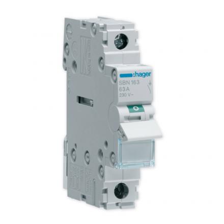HAGER Rozłącznik izolacyjny wyłącznik główny 63A 1P SBN163