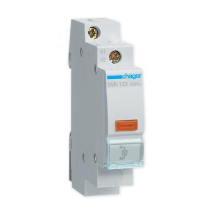 HAGER Lampka sygnalizacyjna LED pomarańczowa 230V SVN123