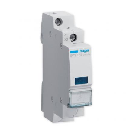HAGER Lampka sygnalizacyjna LED niebieska 230V SVN124
