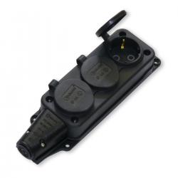 Elektro Gniazdo potrójne listwa rozdzielcza hermetyczna IP44 16A 250V