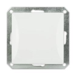 TIMEX OPAL Wyłącznik łącznik pojedynczy schodowy MODUŁ DO RAMKI w kolorze białym