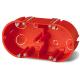 ELEKTRO-PLAST Puszka elektroinstalacyjna podtynkowa podwójna płytka do regipsów z wkrętami PK-62/45G
