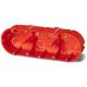 ELEKTRO-PLAST Puszka elektroinstalacyjna podtynkowa potrójna płytka do regipsów z wkrętami PK-63/45G