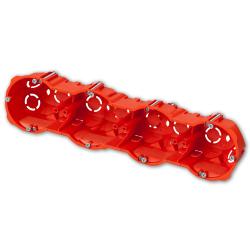 ELEKTRO-PLAST Puszka elektroinstalacyjna podtynkowa poczwórna głęboka do regipsów z wkrętami PK-64/60G