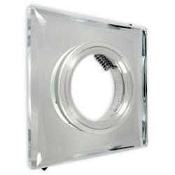 Oprawa oprawka halogenowa kwadratowa stała szkło z rantem Lorent clear