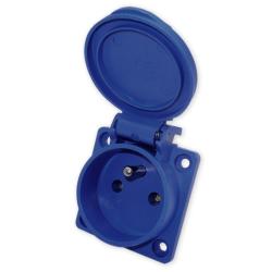 ADELID Gniazdo z uziemieniem 45x45 230V tablicowe IP44 niebieskie