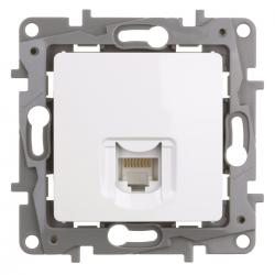 Legrand NILOE Gniazdo komputerowe 1xRJ45 kat. 6 UTP do ramki białe 764573