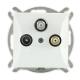 TIMEX OPAL Gniazdo antenowe RTV-SAT-SAT do ramki białe GAPS/2/m Op BI