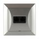 TIMEX OPAL Gniazdo komputerowe podwójne 2xRJ45 2x8pin zacisk krone LSA+ srebrne GTP-22 Op SR