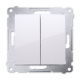 SIMON 54 Przycisk łącznik zwierny podwójny do ramki biały DP2.01/11