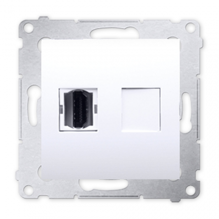 SIMON 54 Gniazdo HDMI do ramki białe DGHDMI.01/11