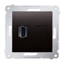 SIMON 54 Gniazdo HDMI do ramki antracyt DGHDMI.01/48